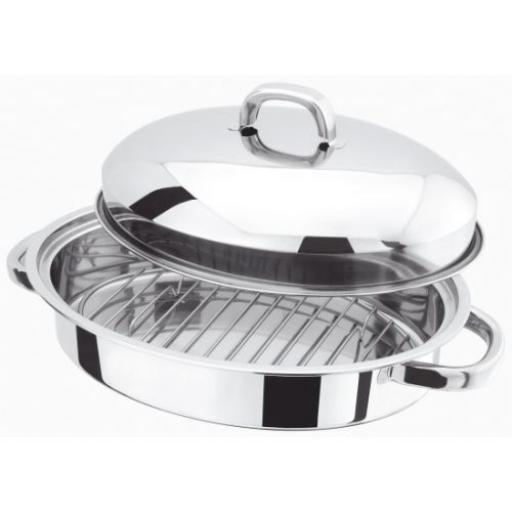 Judgbas H017 Mini Oval Roaster & Rack S/S C