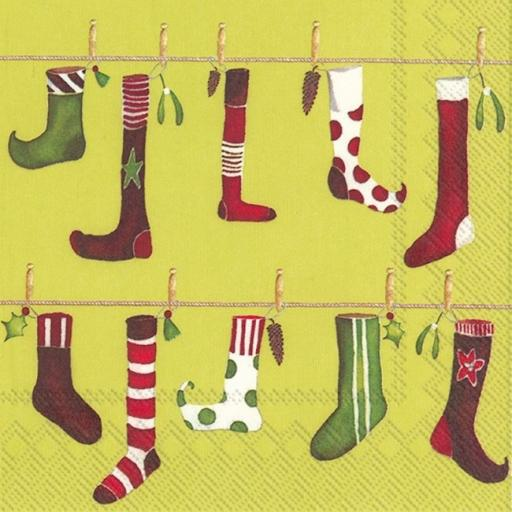 Napkin Crazy Christmas Stockings