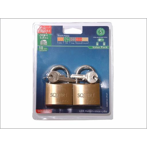 Squire Padlock Twin Pack Lp10