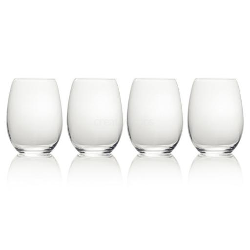 Mikasa Julie Stemless Wine Glasses 19.75 Oz x4