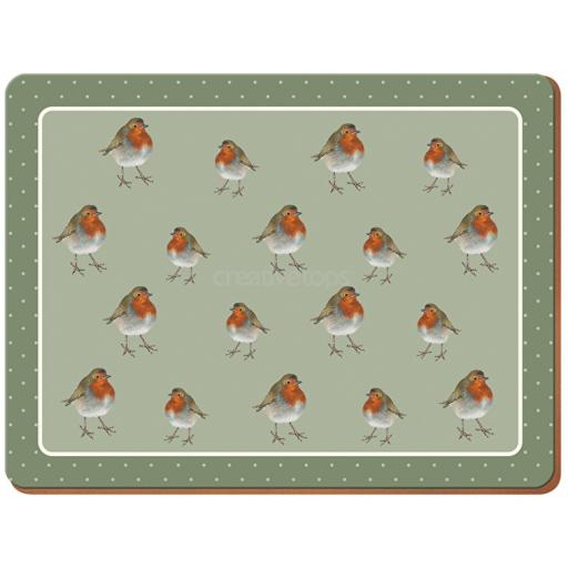 Creative Tops Into The Wild Robin Pack Of 4 Large Premium Placemats