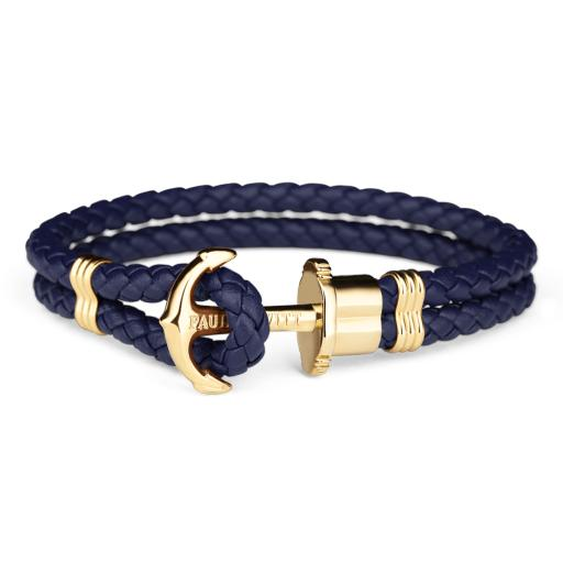 Bracelet Paul Hewitt Navy/ Gold Anchor