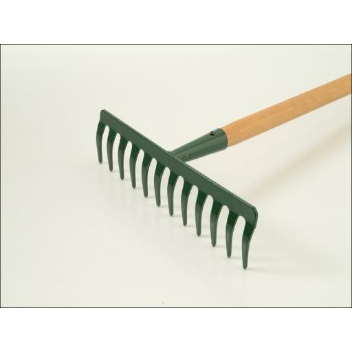 Garden Rake Wooden Handle 12 Tooth R1645