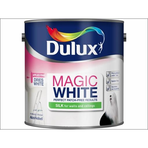 Dulux Magic White Silk Pb White 2.5L