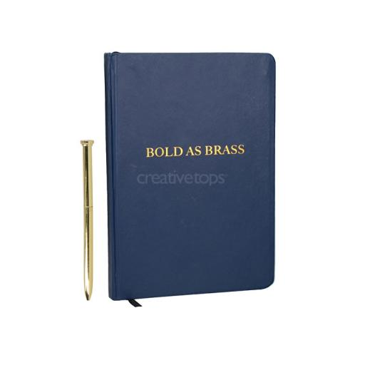 Notebook & Pen Bold As Brass
