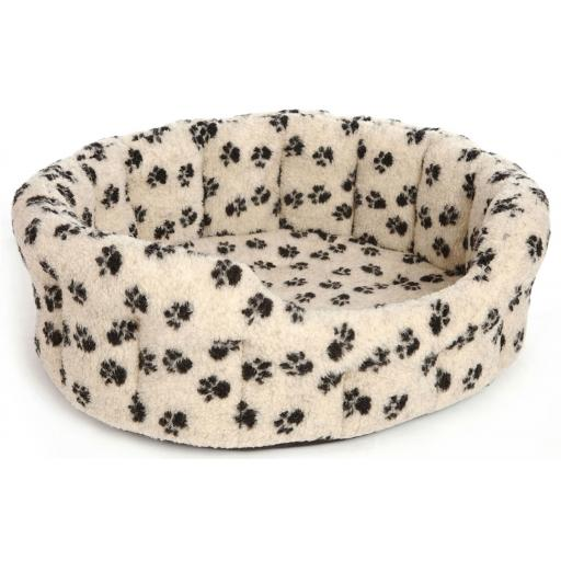Dog Bed Fleece Softee Paw Print