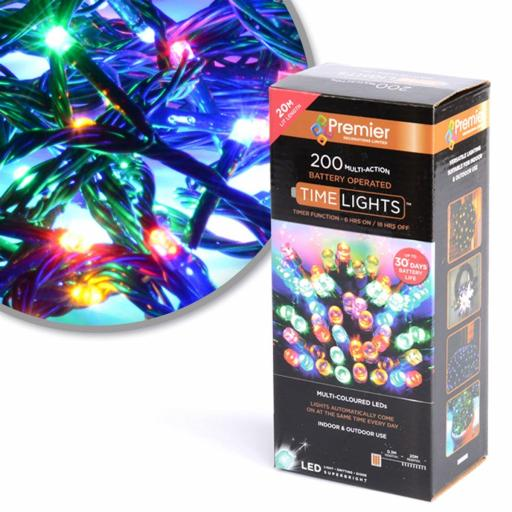 Multicolour LED Lights x200 by Premier