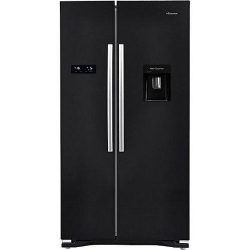 Hisense RS723N4WB1 American Style Fridge Freezer - Black - A+ Rated
