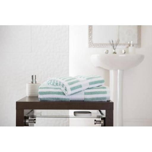 Bliss Stripe Spearmint Hand Towel
