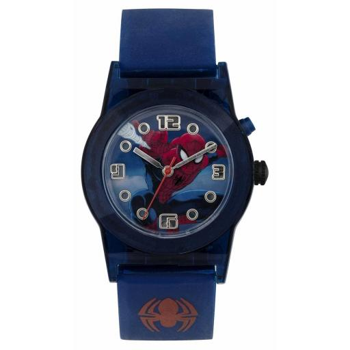 Watch Spider Man Blue Strap Flashing