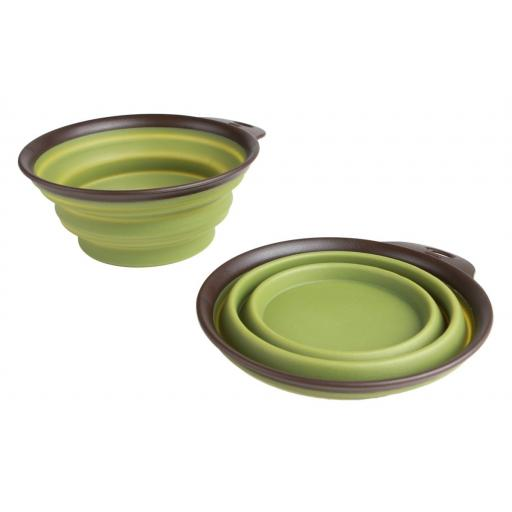 Dexas Collapsible Bowl Green