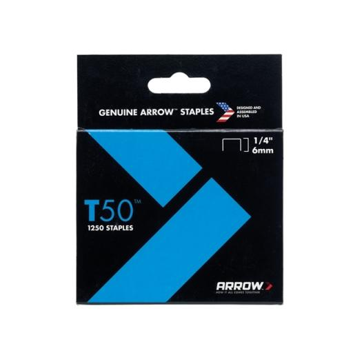 Arrow T-50 Staples (Pack Of 1250) 1/4In