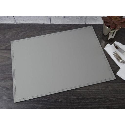 Creative Tops Bonded Leather Placemat Grey