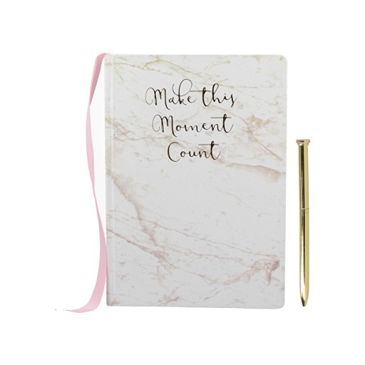 Notebook & Pen Set Pink / Marble