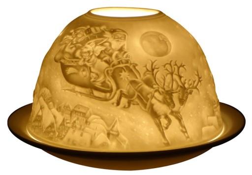 Ceramic LED Santa Sleigh Night Light by Premier