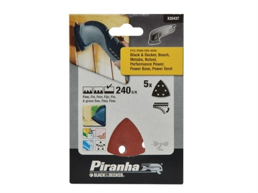 X32437 Detail Sanding Sheets Very Fine 240G (Pack 5)