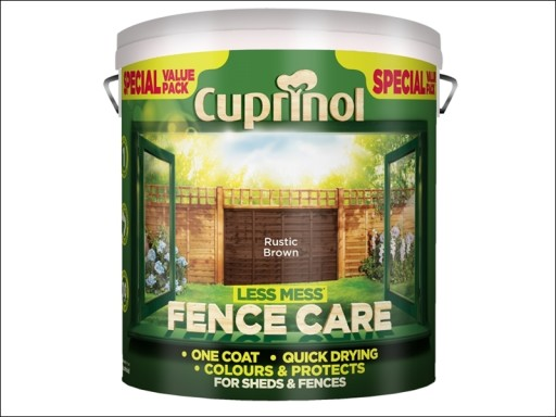 Cup Less Mess Fence Care Rustic Brown 6L N P