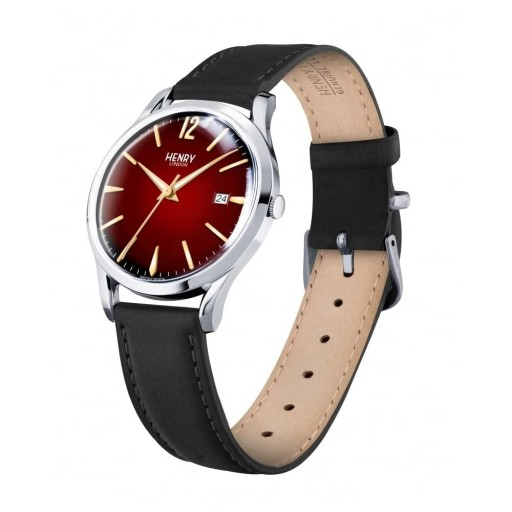 Watch Henry London Red Dial Black Strap