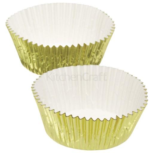 Cupcake Cases Gold Foil