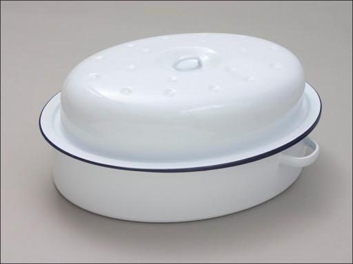 Oval Roaster White 26cm