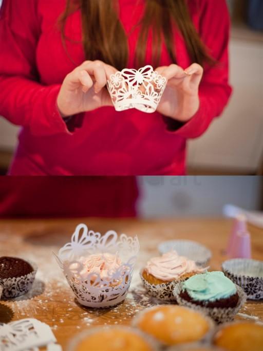 Cupcake Wraps Butterflies