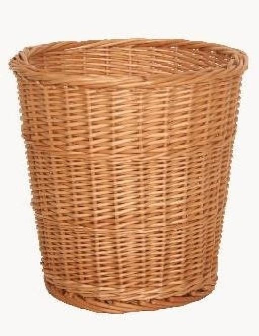 Round Wicker Waste Paper Basket Bin Storage Bedroom Bathroom Office Lounge