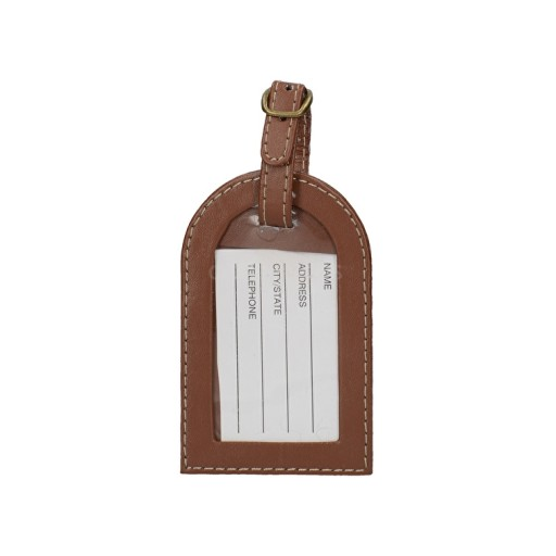 Luggage Tag Faux Leather