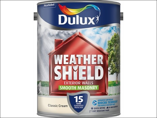 Dulux Weather Shield Smooth Classic Cream 5L