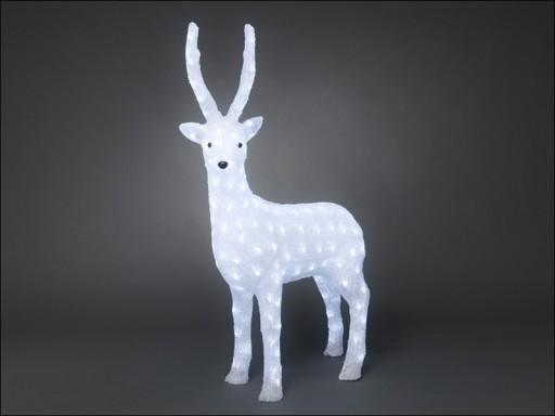 Konst 6168-203 Acr. Reindeer Wte Led 105Cm P