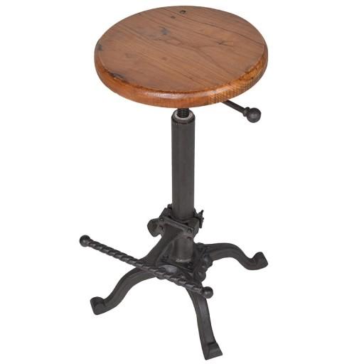 Rotating Stool Wood / Iron