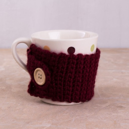 Ka Highland Fling Mug With Knitted Cosy