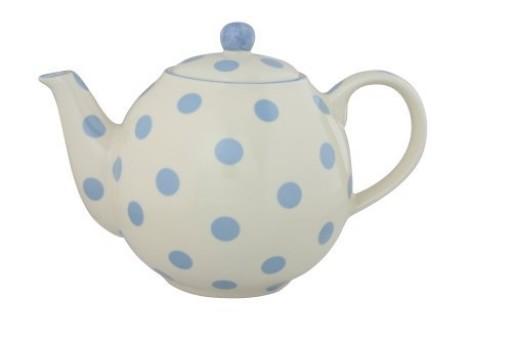 Teapot Ivory/Blue Spot