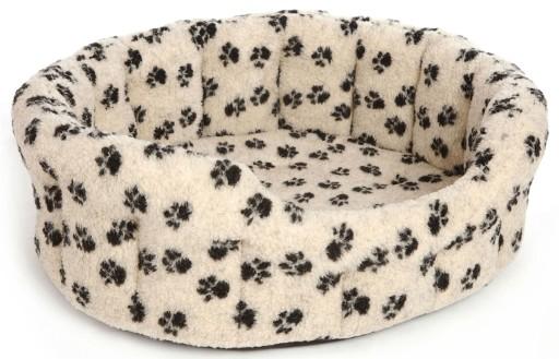 Dog Bed Fleece Softee Paw Print