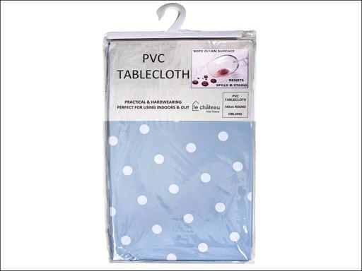 Table Cloth Pvc Spot Powder Blue