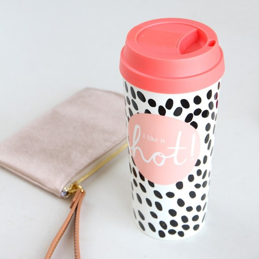 Caroline Gardner Travel Mug Rose Tinted