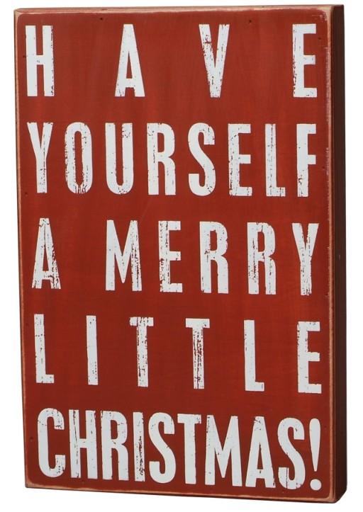 Box Sign A Merry Little Christmas