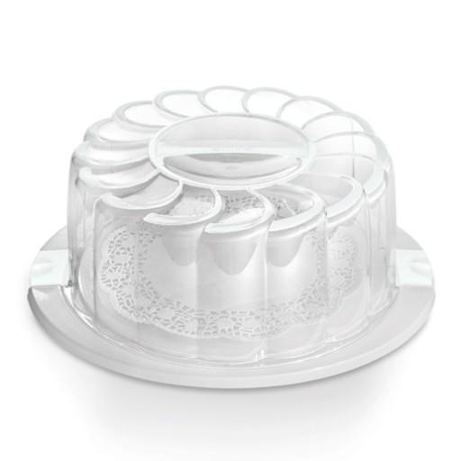 Cake Holder And Carrier White