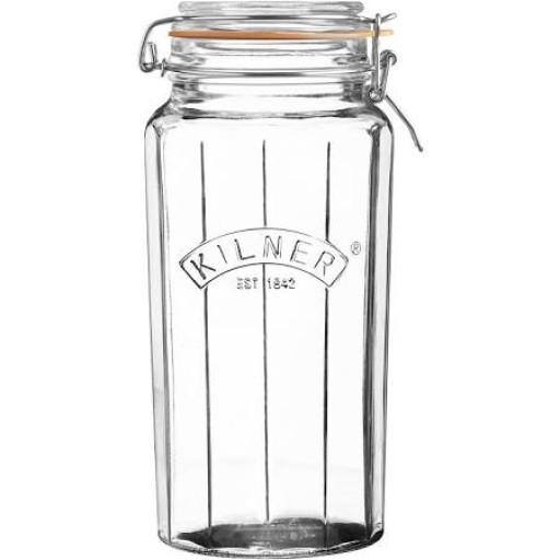 Kilner Jar Facetted 1.8L
