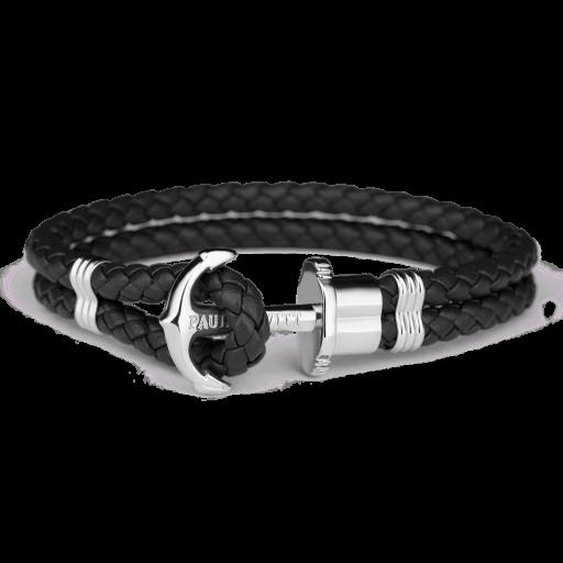 Bracelet Paul Hewitt Black/ Silver Anchor- Large