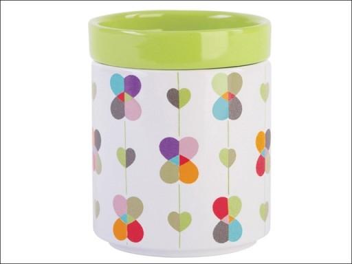 B&E Stackable Storage Jar Green