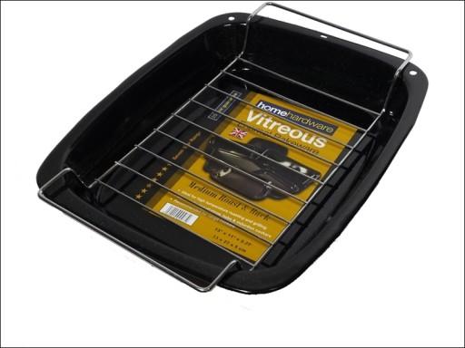 Vitreous Enamel Roaster + Rack Medium 33 x 27cm HV4572