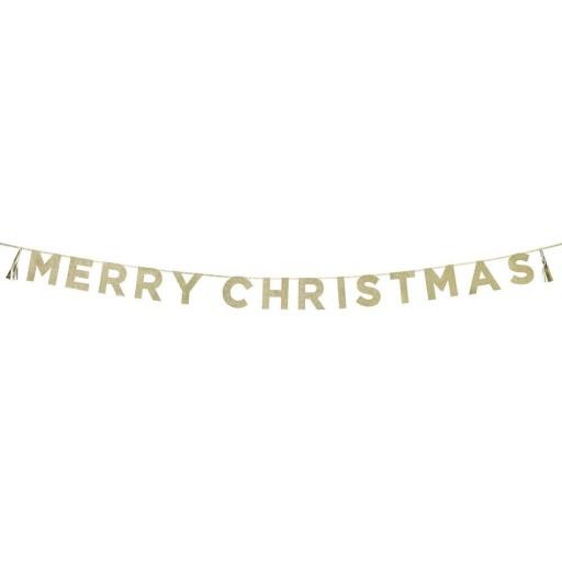 Merry Christmas Glitter Garland