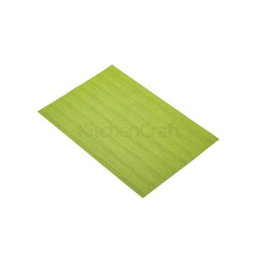 Placemat Woven Green/Yellow