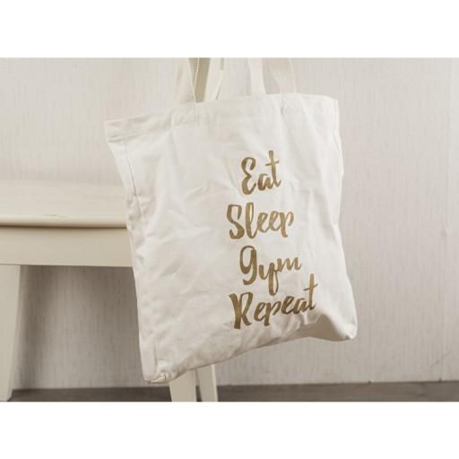 Canvas Bag Eat Sleep Gym Repeat