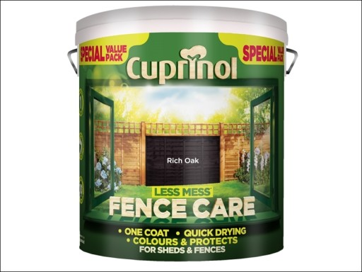Cup Less Mess Fence Care Rich Oak 6L P N