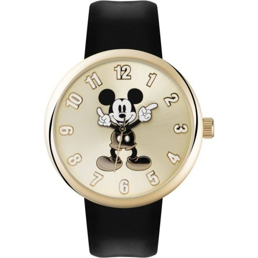 Watch Disney Mickey Gold With Black Strap