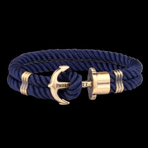 Bracelet Paul Hewitt Navy/ Gold Anchor - Large