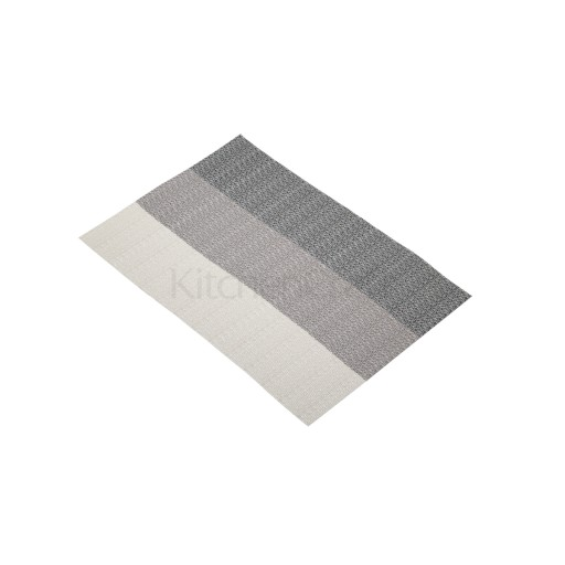 Placemat Woven Grey Stripes