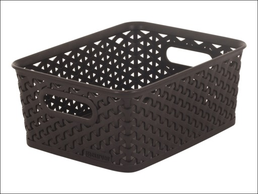 Curver Rattan Basket Brown