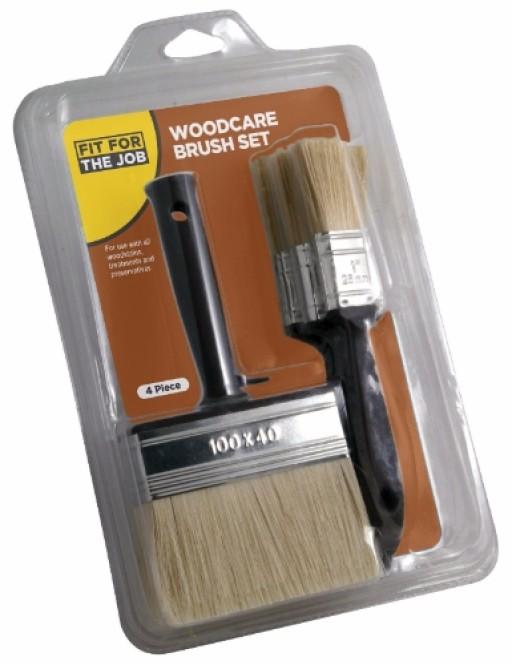 Rodo Ffj Woodcare Brush Set 4Pce
